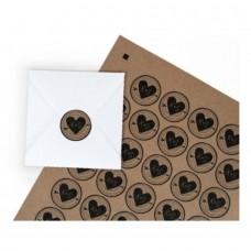 Kraft stickers printbaar